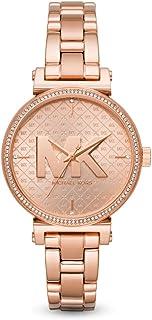 Michael Kors Sofie Women's Rose Gold Dial Stainless Steel Analog Watch - MK4335