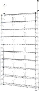 ルミナス フィールシリーズ ポール径19mm テンション(つっぱり)ラック 10段 幅122.5×奥行23×高さ220-280cm MD120-10T