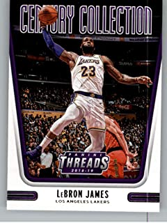 2018-19 NBA Threads Century Collection #18 LeBron James Los Angeles Lakers Official Panini Retail Basketball Card