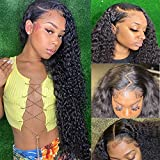 ZILING Deep Wave Lace Front Wigs Human Hair for Black Women Pre Plucked 13X4 Lace Front Wigs Brazilian Remy Wigs 16 Inch