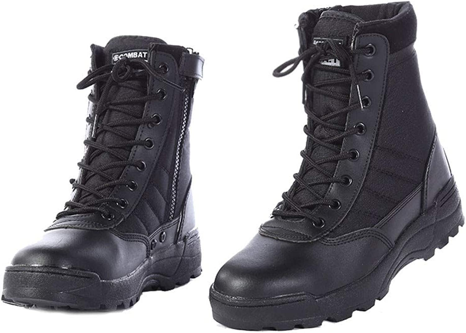 IDNG Basketball shoes Leather Boots for Men Infantry Tactical Boots Army shoes Motorcycle Boots