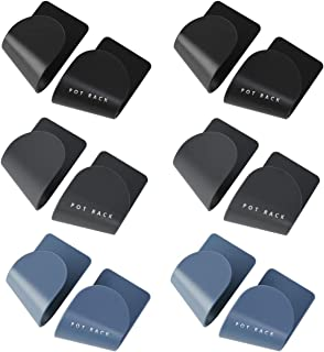 Supports Stockage Couvercle de Pot,Guador 6 Paires Couvercle de Casserole Support de Rangement Mural Casserole Paniers Pla...