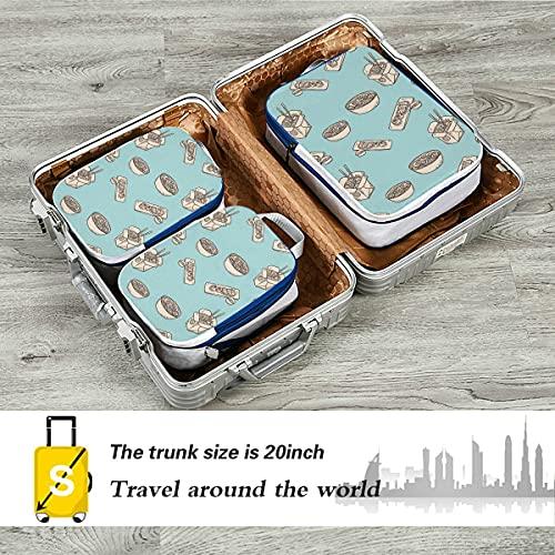 Bolsas de equipaje Moda creativa Cartoo Kitchen Wok Bolsas de embalaje de viaje Cubos de embalaje de equipaje expandibles para equipaje de mano, viajes (juego de 3)