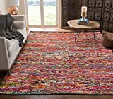 Cotton Multi Chindi Hand Woven Rugs - 8x10 Feet Rectangle Hand Braided Bohemian Colorful Area Rug - Recycled Braided Chindi Rugs- Biodegradable Area Rugs 96x120 inch.