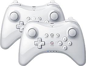 QUMOX 2x White Wireless Bluetooth Remote U Pro Controller Gamepad for Nintendo Wii U