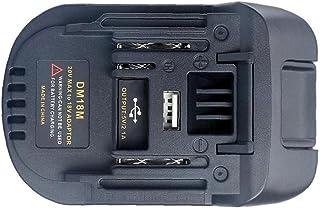 DM18M Battery Adapter Li-Ion Charger Adapter Compatibel met Dewalt Milwaukee Makita 18-20v Li-ion batterij tool