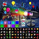Chritsmas Light Clearance LED 16 Patterns Projector Outdoor with Colorful Nebula Light 2 in 1 for Xmas, Party ,House,Decoration 2020 Popular Kids Gift