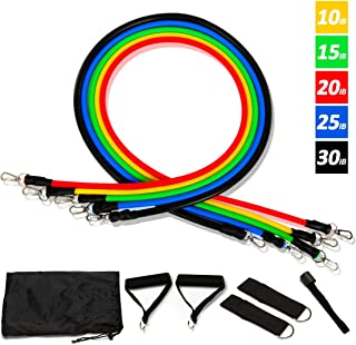 Dolloly Resistance Bands Set, 11 Pcs Exercise Bands with Door Anchor, Portable Carry Bag, Handles, Legs Ankle Straps for R...