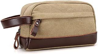LXHOME Segeltuch Herren Handgelenktasche Herrenhandtasche Brieftasche Geldbörsentasche für Männer