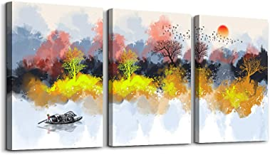 Abstract Watercolor Painting Inspirational Canvas Wall Art for Living Room Bedroom Decoration,Bathroom Wall Decor 3 Piece ...