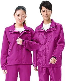 Ponchos for women Raincoat Rain Pants Suit Waterproof Double Layer Thick Rainwear Jacket Riding Adult Split Rain Coat Unisex
