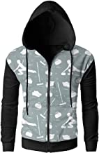 MASDUIH Curling Sport Shoes Broom Stone Athlete Men's Full-Zip Hoodie Sweatshirt Travel Jackets Casual Outwear