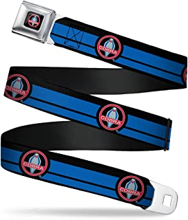 "Buckle-Down Seatbelt Belt - Classic Mustang COBRA Logo/Stripe Black/Blue/Red/Gray - 1.5"" Wide - 32-52 Inches in Length"