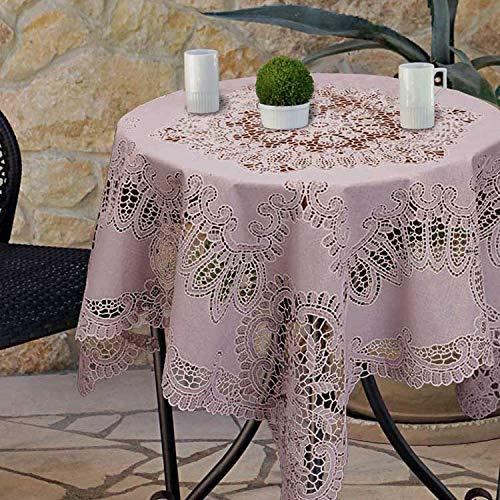 Unique Living, Tischdecken Amira Vinyl 90x90cm old pink