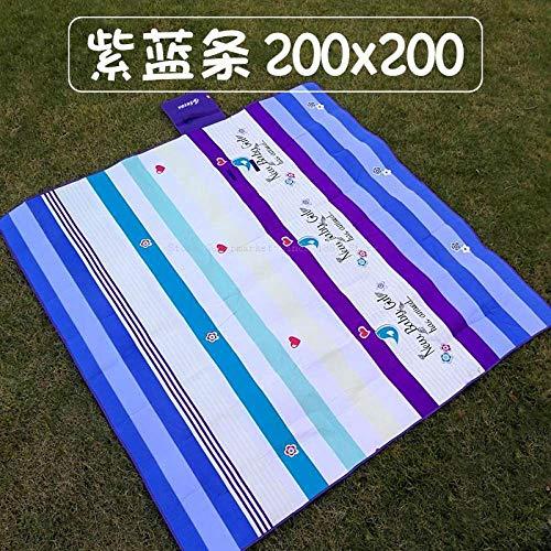 Picknickdecke,Blau Picknick Mat Feuchtigkeit Pad Outdoor Outing Camping Wüste Rasen Gras Verdickung Mat Tuch Strandmatte Portable Ultra Light, 150 * 200 cm.