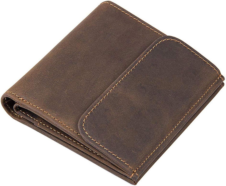 NLJ-YMS Wallet Männer Leder Brieftasche Und Münze Tasche Kurze Männer Lederwaren B07HXQR7SG
