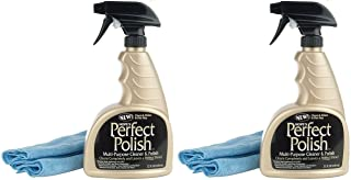 Hope's Perfect Polish and Multi-Surface Cleaner, 22-Ounce with Micro-Fiber Cloth (2 Pack)
