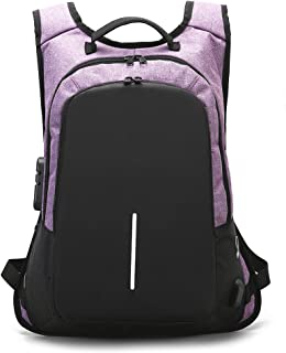 Iswee laptop Backpack with USB Charging Port Anti Theft School Backpack for Women and Men Fit 15.6 Inch Laptop