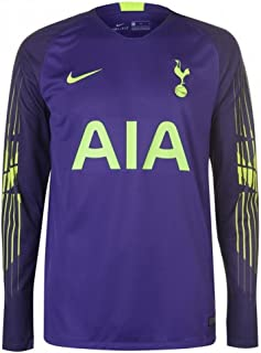 Nike 2018-2019 Tottenham Home Goalkeeper Football Soccer T-Shirt Jersey (Purple)