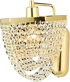 AVONNI AP-1562-S20 Yellow Plated Wall Lamp, E27, Metal, Crystal, 21x30cm