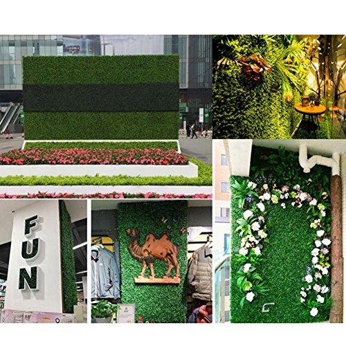 winnerruby Paneles de Setos Artificiales, Verdor de Privacidad Artificial Screening Screen Home Garden Decoración de la Pared Al Aire Libre