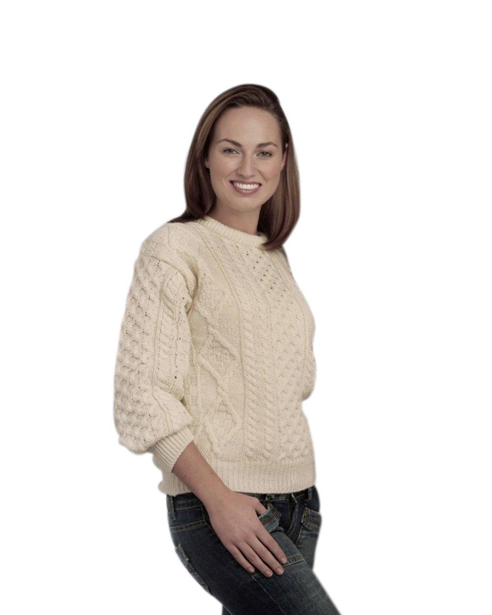 Best Buy 100% Pure New Wool Irish Springweight Aran Sweater Reviews