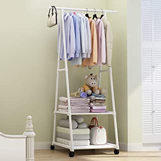 House of Quirk Coat Jacket Hat Hanger Mobile Multi Function Stand Organizer De Clutter Your Doors, Wash Rooms or Re Wearable Clothes(160x55x42cm) White