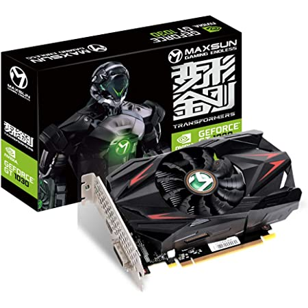 MAXSUN GEFORCE GT 1030 4GB ITX Graphics Card GPU GDDR4 Mini ITX Design, HDMI, DVI-D, Single Fan Cooling System