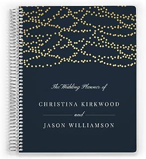 $53 » Customized Wedding Planner, Custom Engagement Gift, Wedding Organizer, Bride Planner, Dangling Lights Planner, 6 inch by 8...