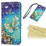 Beaulife. Coque pour iPhone 6/6S Peinture Phone Shell PU Cuir Portefeuille avec Carte d'identité...