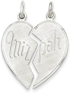 Beautiful Sterling silver 925 sterling Sterling Silver 2 pc. Heart-shaped Mizpah Charm