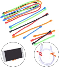Haomian 15 Pack Silicone Resuable Twist Ties, All Purposes Gear Rubber Ties, Assorted Color, 5 Pcs/Size(3Inck, 6Inch, 12Inch)