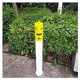 XJJUN Enicero De Pie Exterior, Lugares Públicos, Cubo De Ceniza, Columna De Hollín Vertical A Prueba De Viento, para Jardín, Bar, Lugar Escénico (Color : Yellow, Tamaño : 10x100cm)