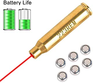 Laser Bore Sight Cal Red Dot Boresighter 223 5.56mm Laser Sight Rem Gauge with 6 Batteries