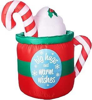hot cocoa hot tub christmas inflatable