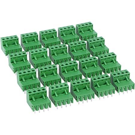 20 St/ück PCB Schraubklemmen 5.08mm 4Pin PCB Mount Screw Terminal Block