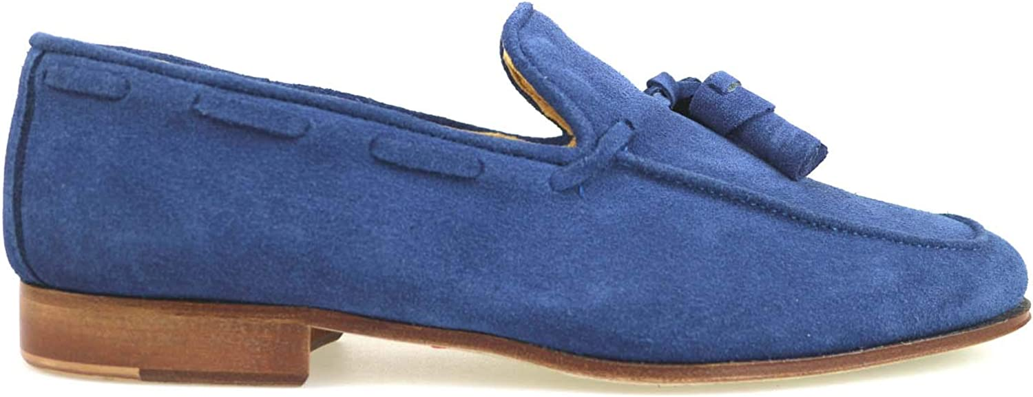 LE VIVALDI Loafers-shoes Mens Suede bluee