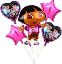 5PACK Dora the Explorer Party Supplies Foil Balloon for Baby Shower Birthday Party Bouquet Decorations