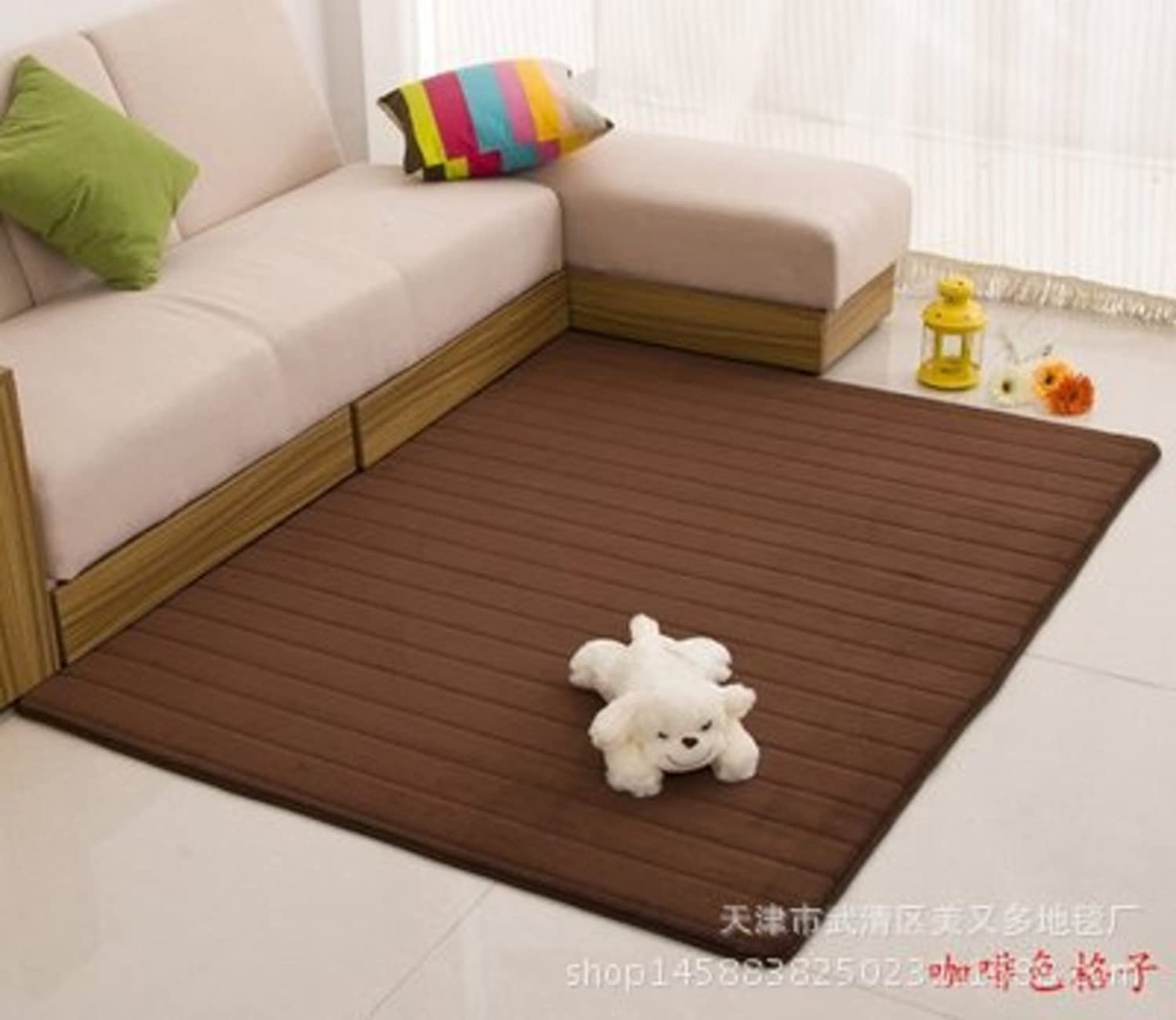 Floor Mat Coral Fleece Mat Living Room,Bedroom,Kitchen,Bathroom,Bedside Mats Doormat-C 140x200cm(55x79inch)