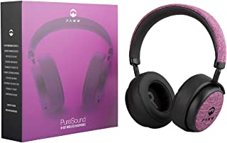 Paww PureSound Headphones - Over the Ear Bluetooth Fashion Headphones – Hi Fi Sound Quality Longer Playtime - For Calls Movies & More (Cerise Pink)