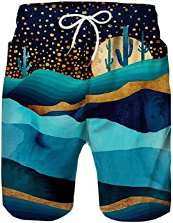Cute Expression Graffiti Mens Beach Board Shorts Quick Dry Summer Casual Swimming Soft Fabric with Pocket