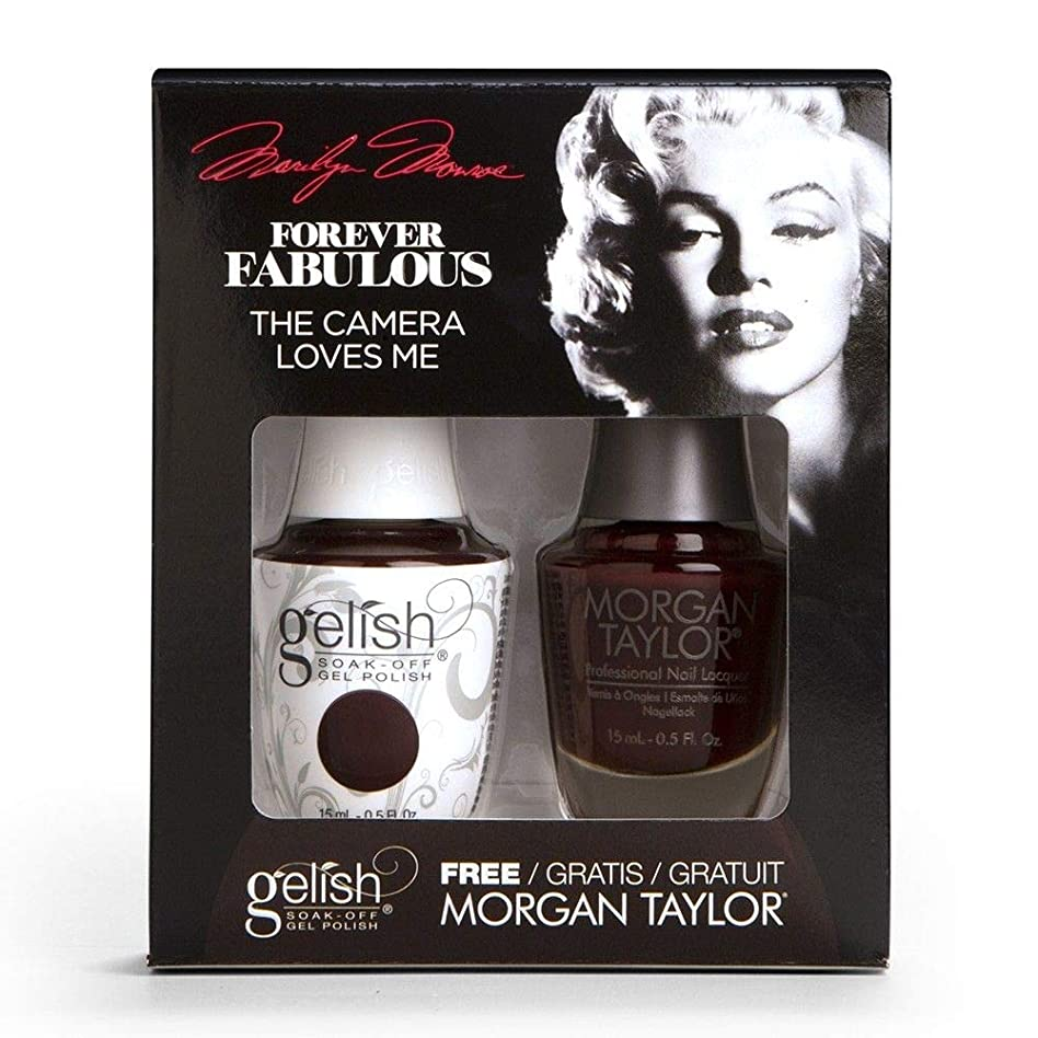 浮くシェード面Harmony Gelish & Morgan Taylor - Two Of A Kind - Forever Fabulous Marilyn Monroe - The Camera Loves Me 15 mL / 0.5 Oz