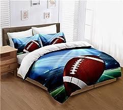 ayigu American Football Duvet Cover Set 3D Sports Rugby Duvet Cover for Men Teens Boys Kids Twin Size 2 Piece Bedding Sets...
