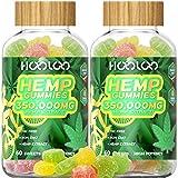 2 Pack Hemp Gummies - HOOLOO 350,000MG Fruity Hemp Gummy for Relaxing, Reduce Stress Anxiety, Sleep Better - Natural Hemp Extract Gummies - Made in USA