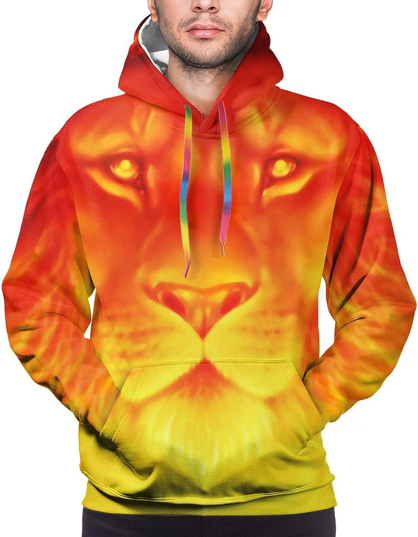 Hoodie For Mens Womens Teens Lion Suset Desert Double-Sided 3d Sweatshirt Hoodie