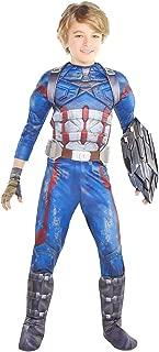 HalloCostume Boys Captain America Costume - Avengers Infinity War Halloween Costumes for Boys, Kids