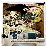 和風家の装飾タペストリーの壁の生地の壁の布のタペストリーの壁の毛布カーペット (Color : 21, サイズ : 230x150cm)