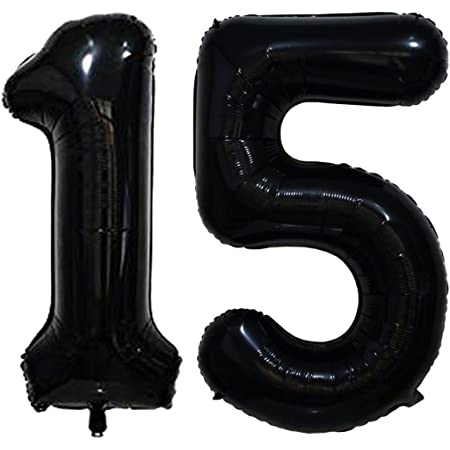 """15th birthday Giant Foil Number Balloons 40/"""" inch Age Party Decor Blue 15"""