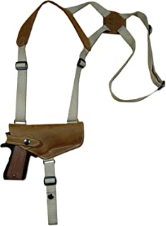 Barsony New Olive Drab Leather Shoulder Holster for Full Size 9mm 40 45