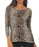 Only onlELCOS 4/5 Top JRS Noos suéter, Gris (Pumice Stone AOP: Leo Print), 38 (Talla del Fabricante: Small) para Mujer